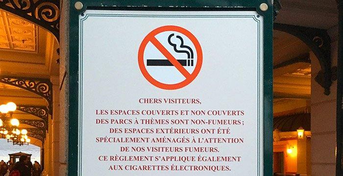pas de fumer