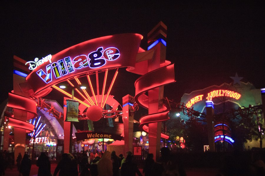 Disney Village night