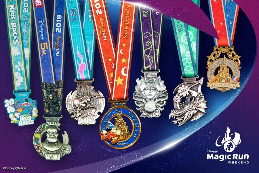 medailles run disney 2018