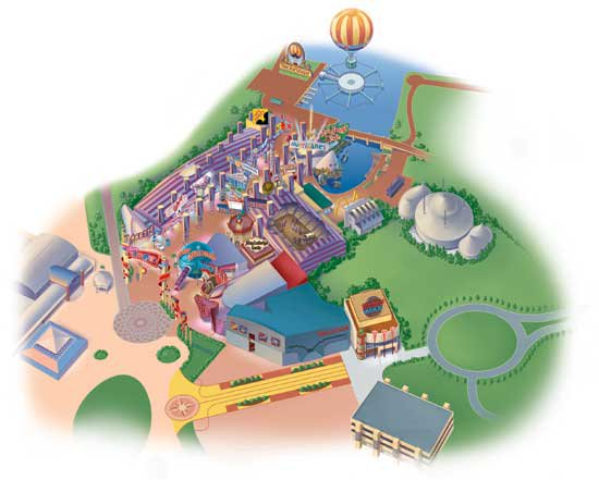 map disney village
