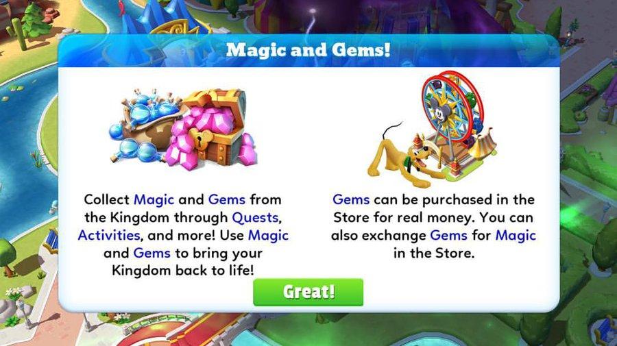 Magic kingdoms gems
