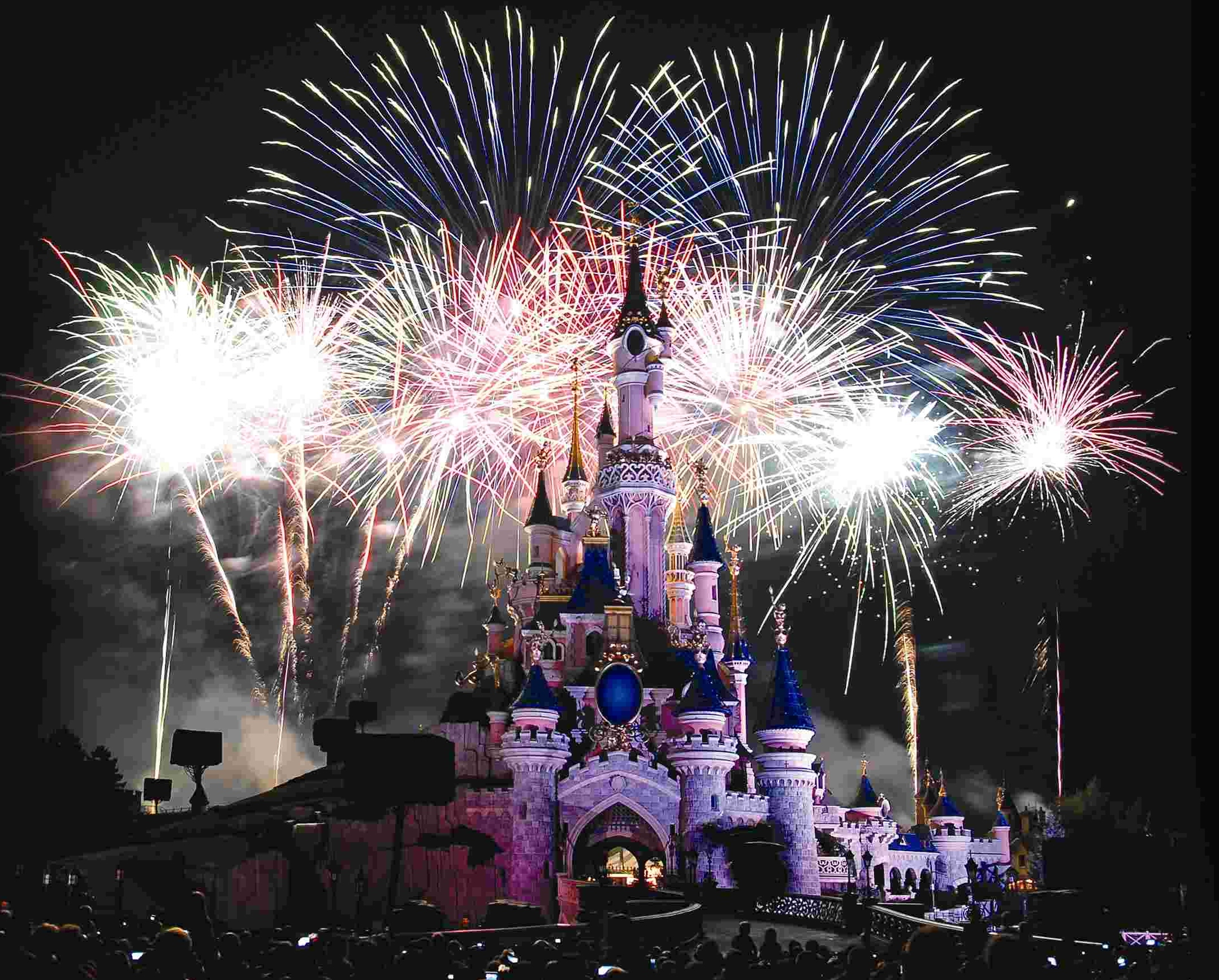 Groots Vuurwerk Voor Bastille Day